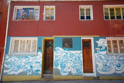 Nice artwork on a house