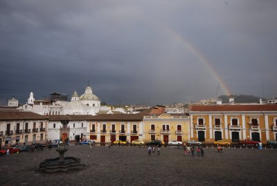 Rainbow over the historic centre