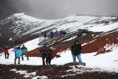 Interesting weather and terrain on Cotopaxi