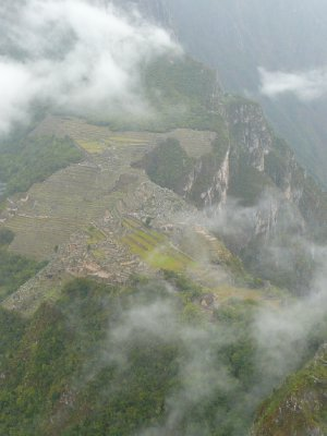 View from Wayna Picchu as the clouds finally clear