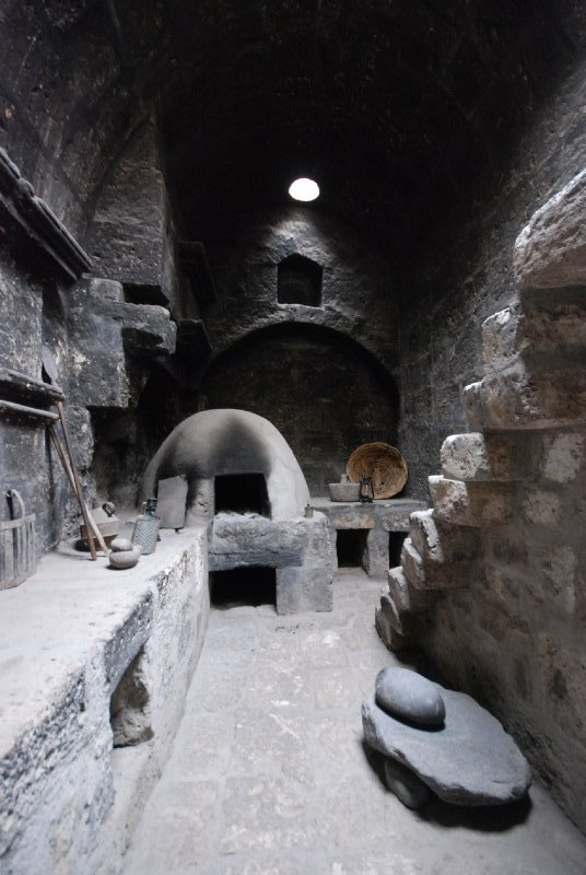 a typical private kitchen for one of the nuns