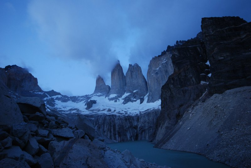The Torres in the early dawn