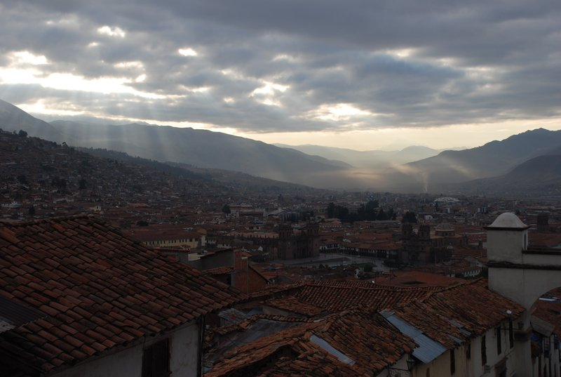 Dawn over Cusco