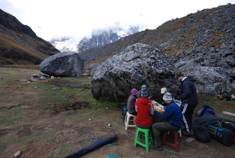 Lunch at the glacier