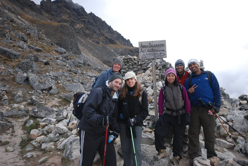 Made it! - the highest point on the trek!