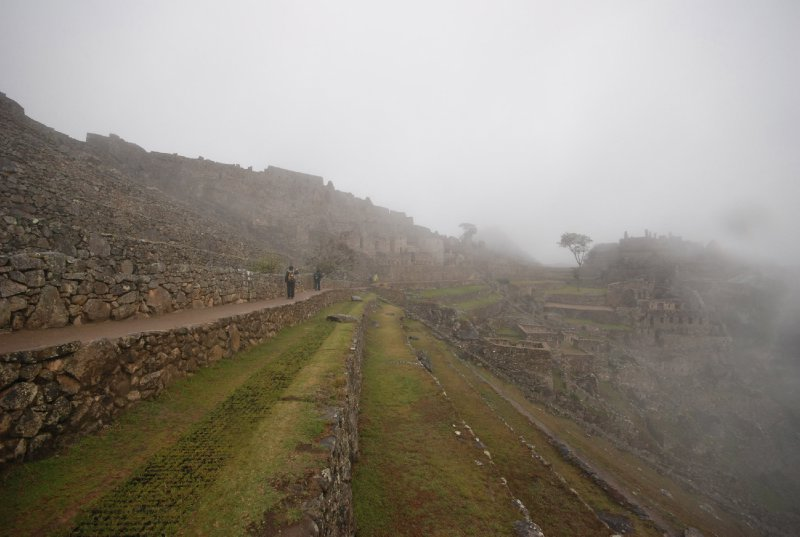 The first (and last) views of a misty Machu Picchu with my camera