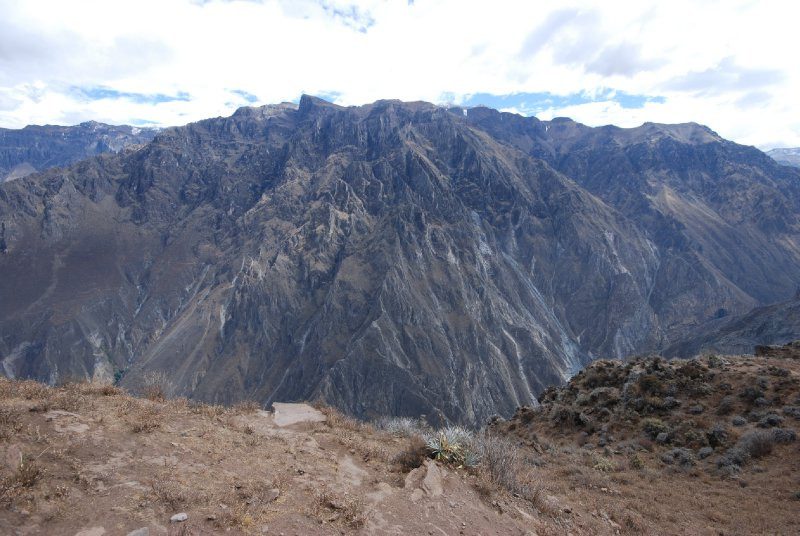 Colca canyon at its deepest point