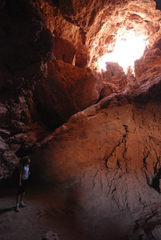 Laura explores one of the caves