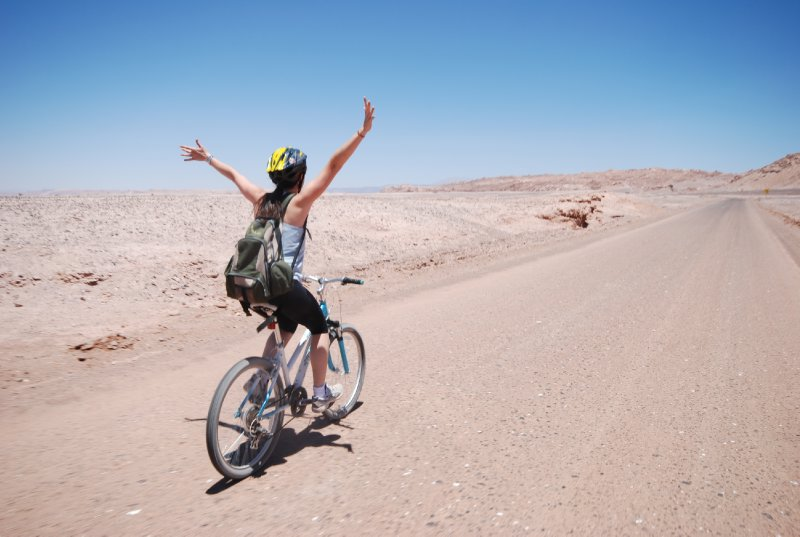 Freewheeling through the desert