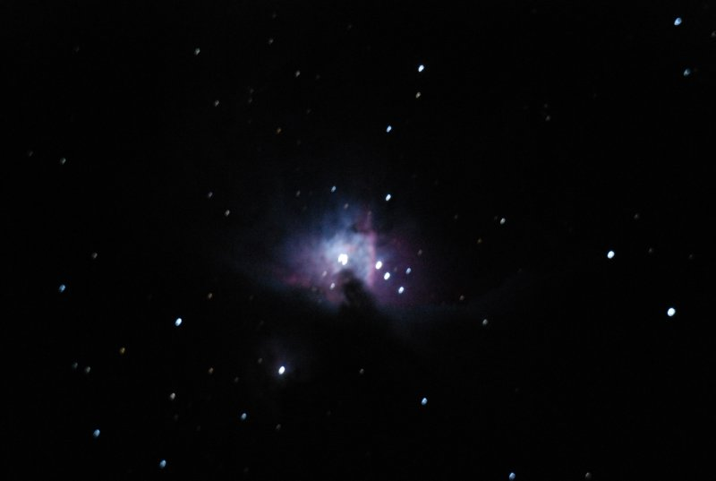 My attempt at capturing a galaxy (or was it a nebula?)