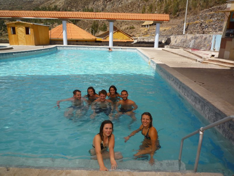 Relaxing at the thermal baths