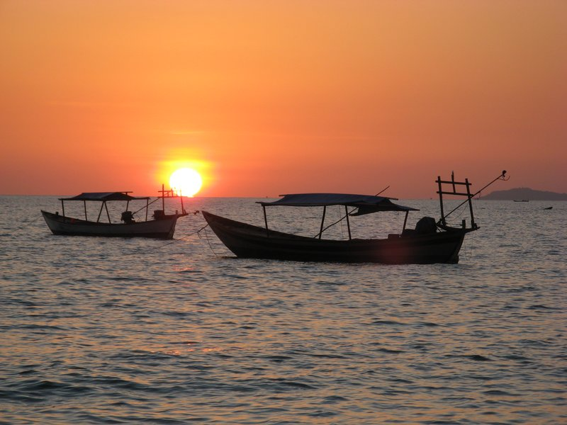 Sunset at Sihanoukville