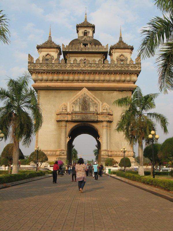 The Patuxai in Vientiane. Laos