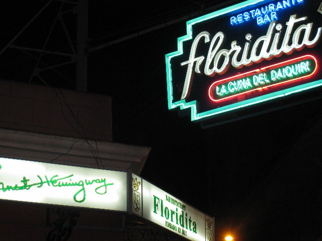 Famed Floridita/ Hemingway hangout
