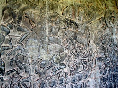Bas-relief in Angkor Wat