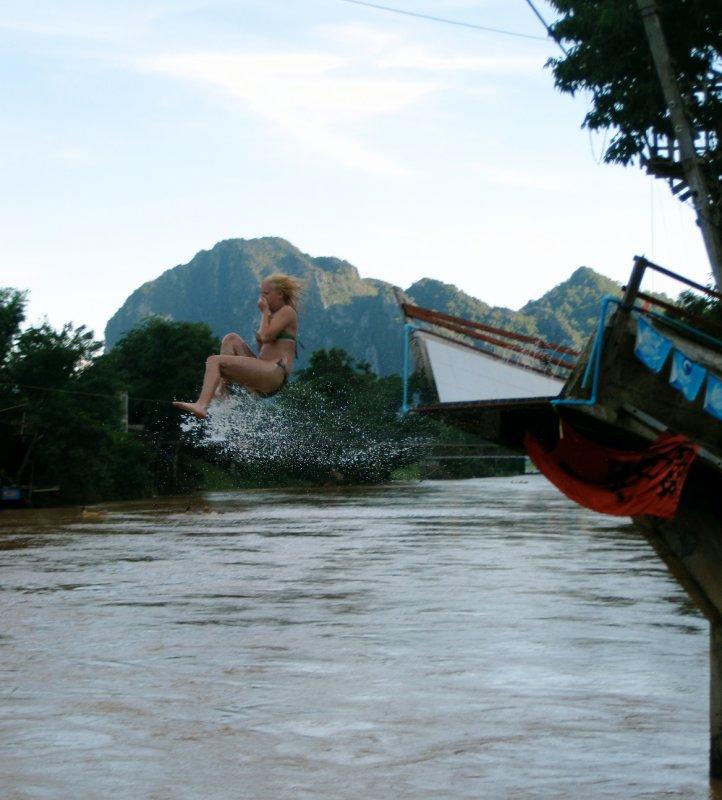 Laura on the slide