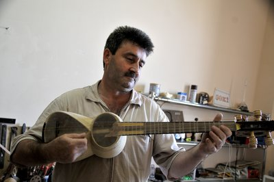 Instrument maker, Sheki, Azerbaijan