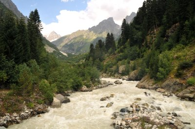 Enguri river,  Mestia