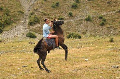 Boy on Horse, Mestia