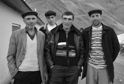 xinaliq mountain men bw