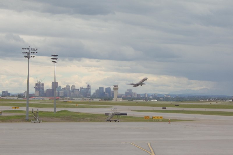 Calgary from Airport
