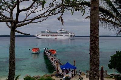 coming ashore at Lifou