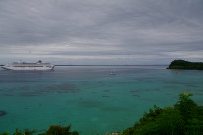 Dawn Princess at anchor in Lifou