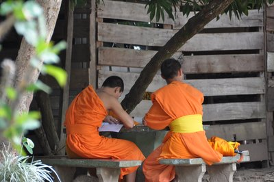 Monks at study