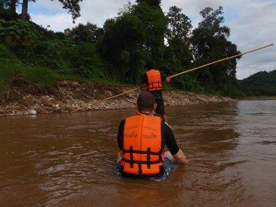 Bamboo rafting - rubbish raft