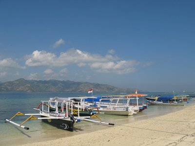 Junks on Gili Air