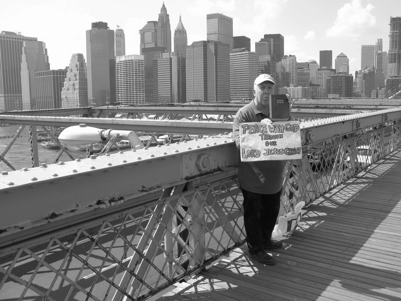 Preaching from the Brooklyn Bridge