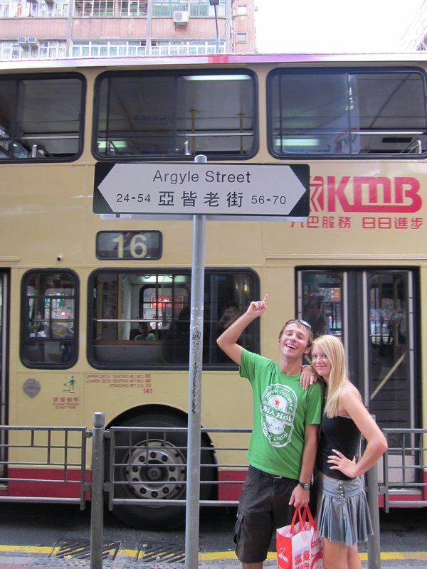 Argyle Street - HK's Scottish influence is huge