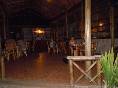 At Acadia Cottages: the meals were reasonable but the rooms were not! $400 for a family cottage that slept 4. We stuck with the $20 safari tents at the neighbouring Uganda Wildlife Authority (UWA) site