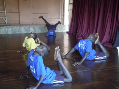 """""""Stretching...it's good for you, and so is water,"""" the kids were told"""