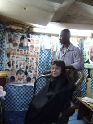 In the barber's chair