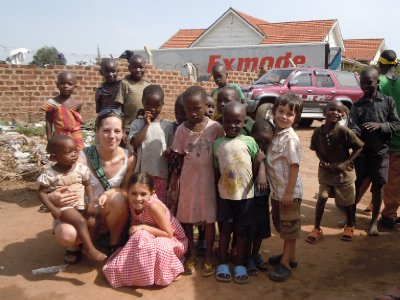 Erica and the Agape kids