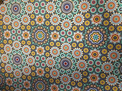 Textures of Singapore: Persian style wall tiles