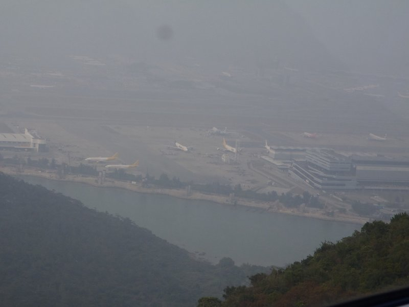 Cable car view of Chep Lap Kok Airport, Hong Kong