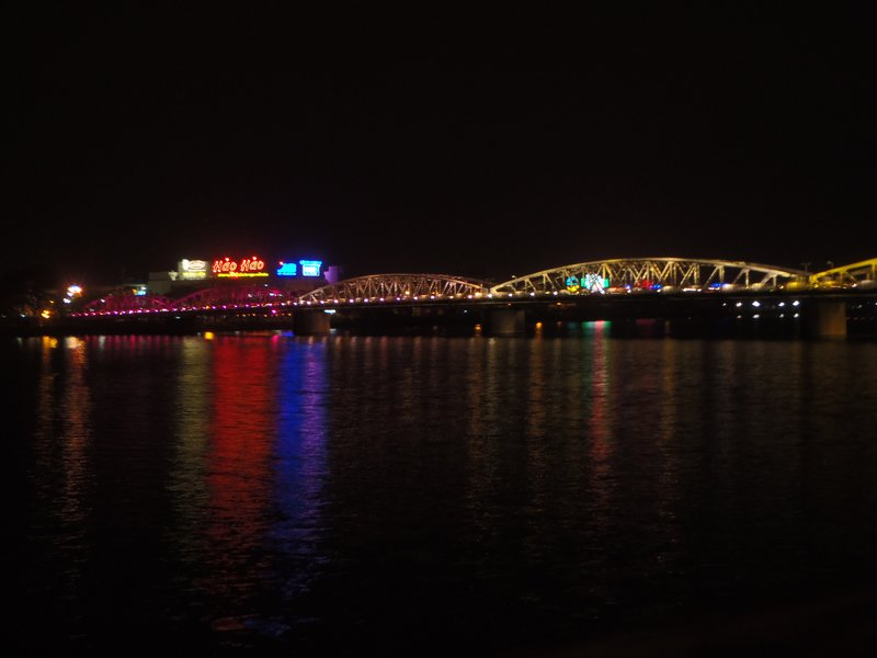 Truong Tien Bridge at night, Hue