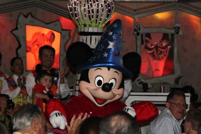 Mickey at dinner