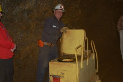 Our guide from the copper mine.