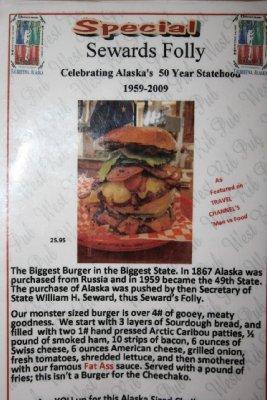 This is the burger description.
