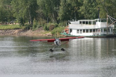 Bush plane--did a demo taking off and landing on the water.