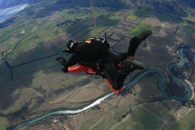Skydiving wanaka scenery