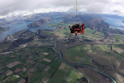 Wanaka skydive scenery