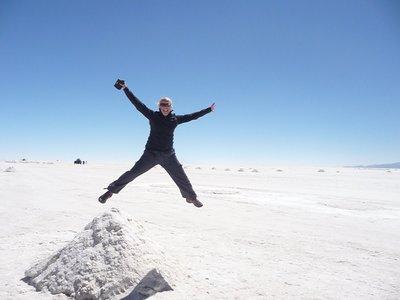Jumping Hannah at the Salt Flats