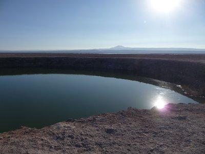 Laguna in middle of Atacama desert