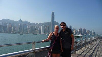 Phil and Hannah in Hong Kong