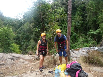 Preparing for descent - Canyoning in Dalat