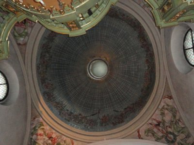 Domed ceiling, St Adalbert&#39;s Church